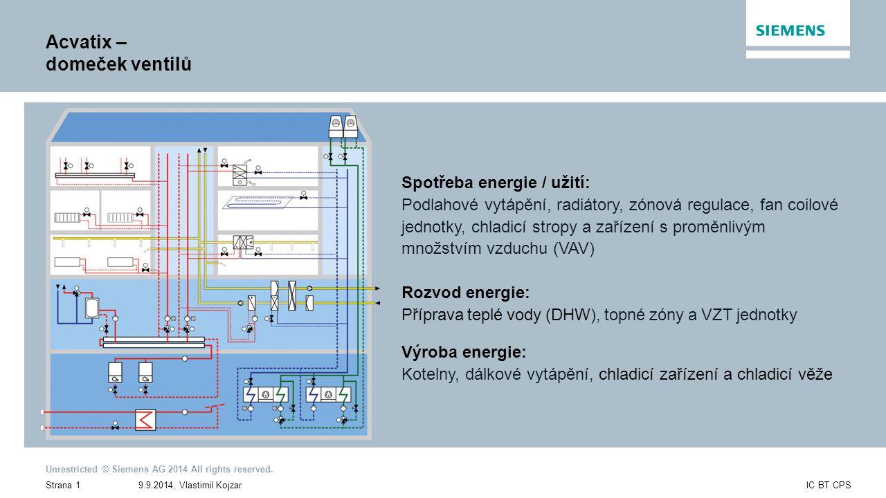 9.9.2014, Vlastimil KojzarStrana 1IC BT CPS Unrestricted © Siemens AG 2014 All rights reserved.