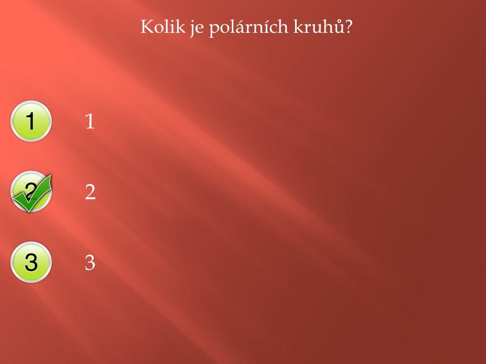 Kolik je polárních kruhů 1 2 3