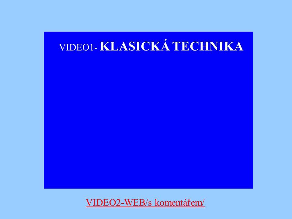 VIDEO1- KLASICKÁ TECHNIKA VIDEO2-WEB/s komentářem/