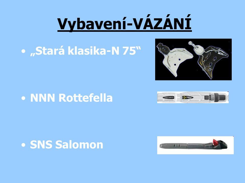 """Stará klasika-N 75"" NNN Rottefella SNS Salomon Vybavení-VÁZÁNÍ"