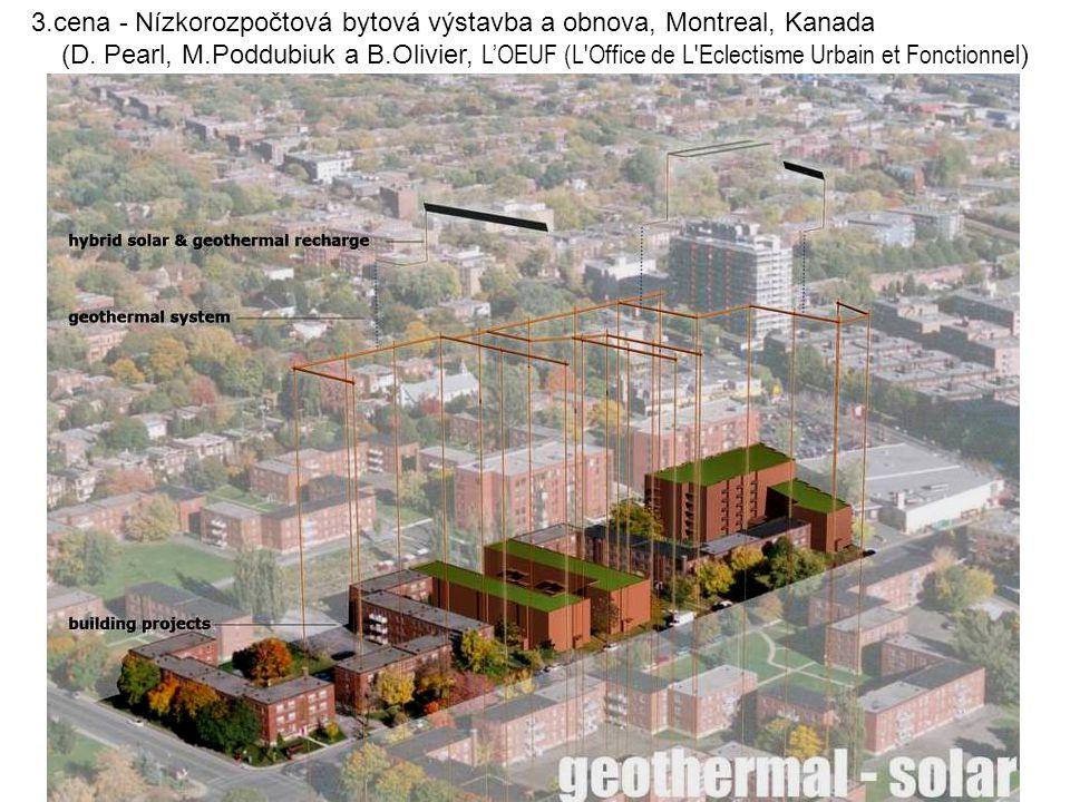 3.cena - Nízkorozpočtová bytová výstavba a obnova, Montreal, Kanada (D. Pearl, M.Poddubiuk a B.Olivier, L'OEUF (L'Office de L'Eclectisme Urbain et Fon