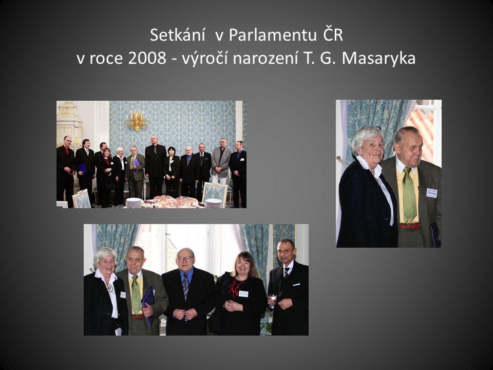 Setkání v Parlamentu ČR v roce 2008 - výročí narození T. G. Masaryka