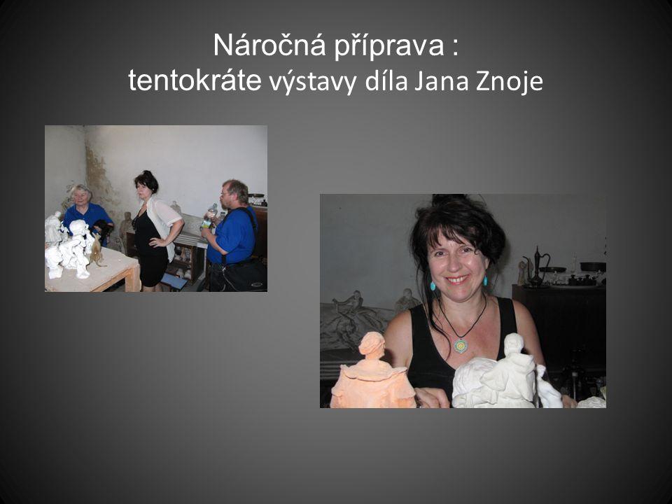 Náročná příprava : tentokráte výstavy díla Jana Znoje