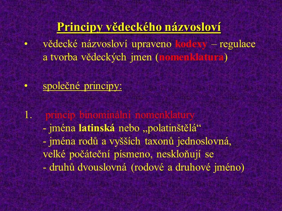 Kategorie hierarchické klasifikace Doména: Eukarya Říše (regnum): Animalia ; Plantae Kmen (phylum): Arthropoda ; u rostl. dodatečná kategorie Oddělení