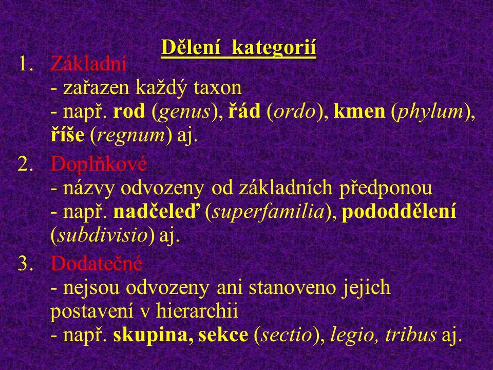 TAXONOMIE ORGANISMŮ taxonomie je věda, zabývající se taxony (tj. pojmenované jednotky přijaté do taxonomické soustavy) a jejich tříděním (klasifikací)
