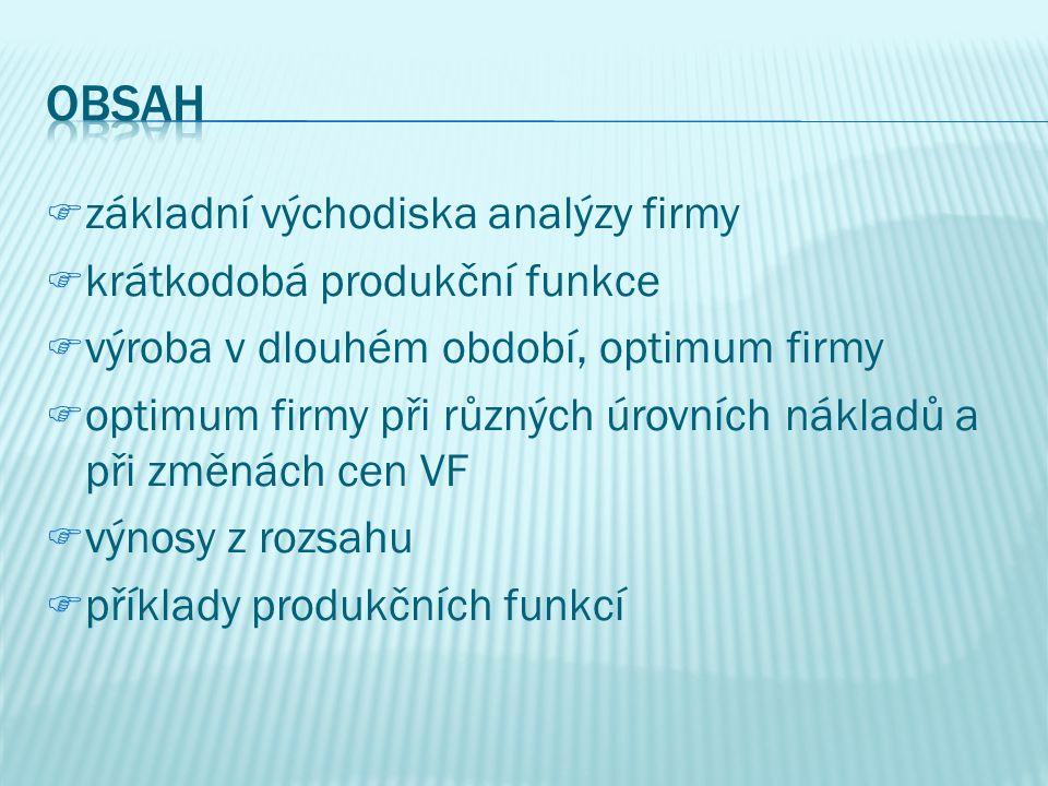 PPrice Expansion Path (PEP) mmnožina bodů optima firmy při různých cenách jednoho z VF aanalogie s PCC u spotřebitele E1E1 E2E2 E3E3 PEP L K