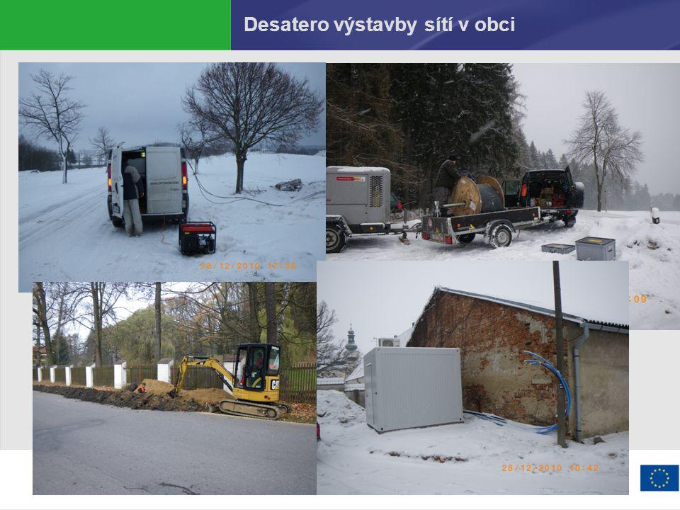 Desatero výstavby sítí v obci