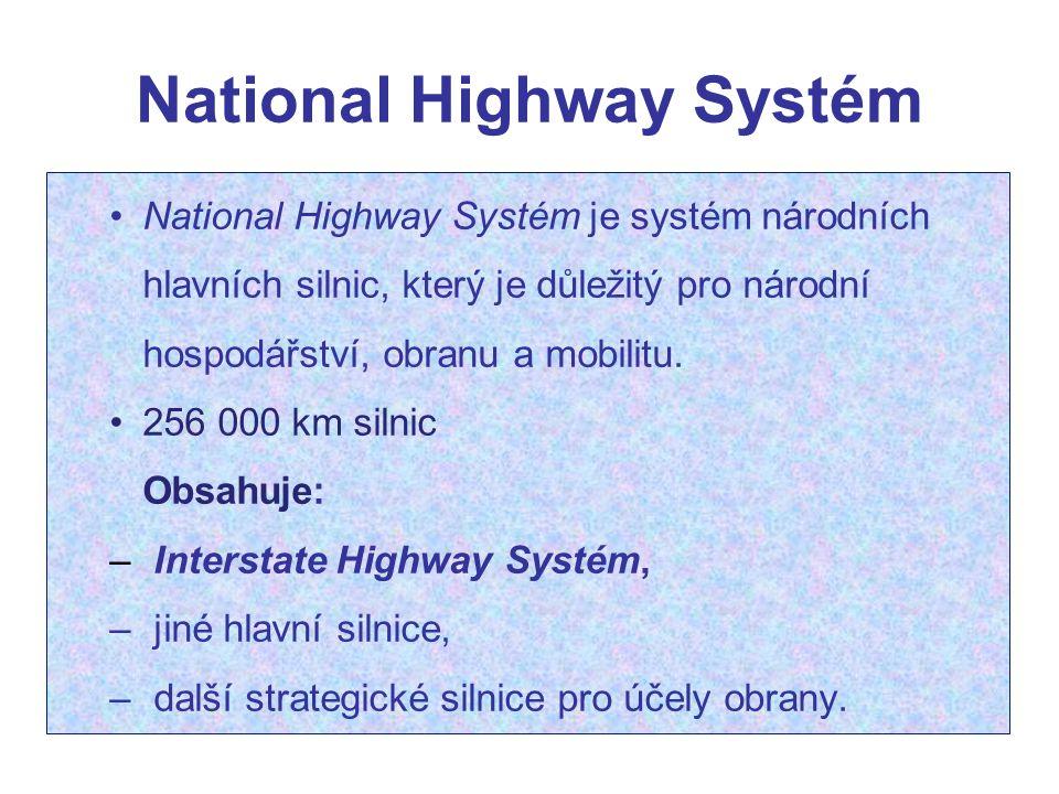 National Highway Systém National Highway Systém je systém národních hlavních silnic, který je důležitý pro národní hospodářství, obranu a mobilitu. 25