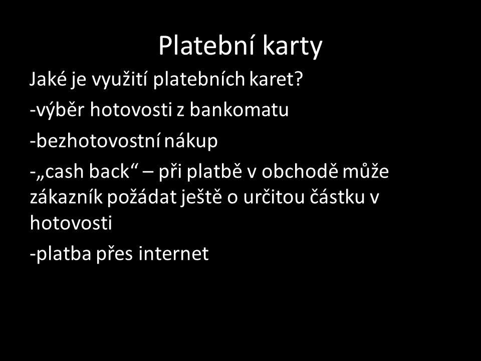 Platební karty Jak vypadá platba kartou přes internet.