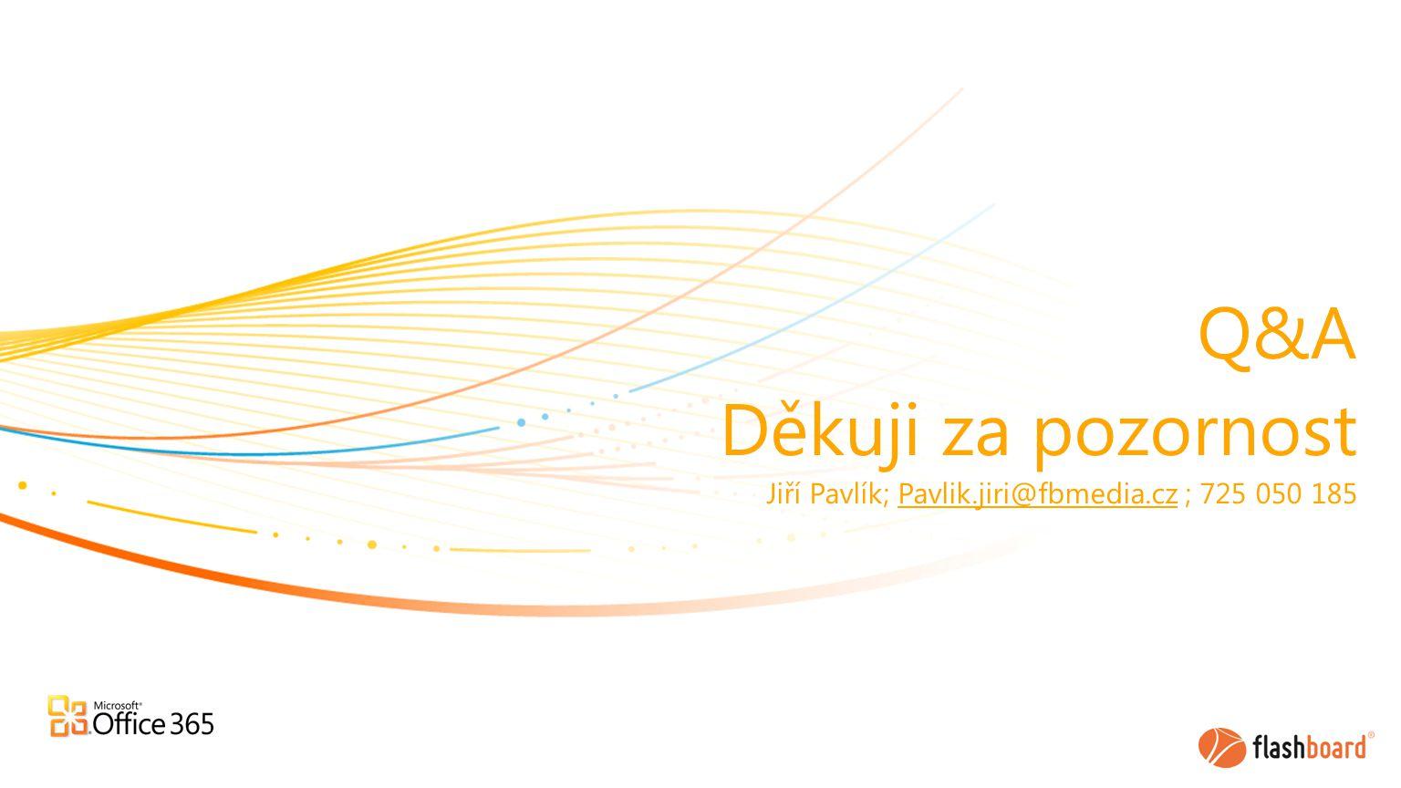 Q&A Děkuji za pozornost Jiří Pavlík; Pavlik.jiri@fbmedia.cz ; 725 050 185Pavlik.jiri@fbmedia.cz