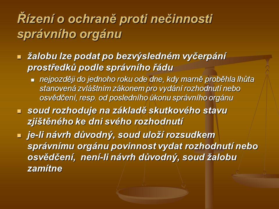 Judikatura k řízení podle § 79 a násl.s.ř.s. Vychází-li ustanovení § 79 s.