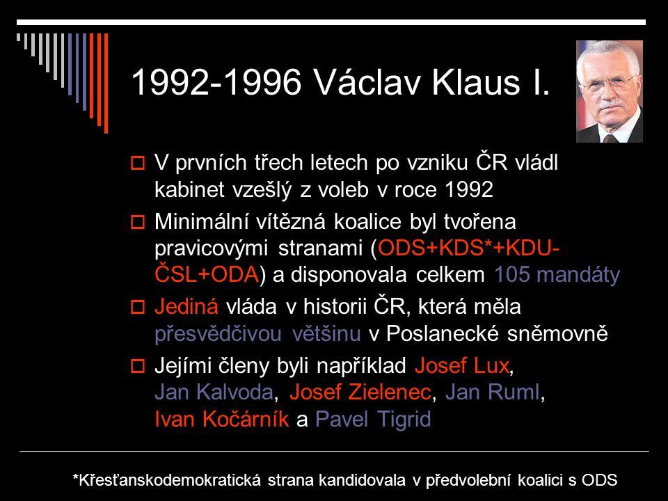 1992-1996 Václav Klaus I.