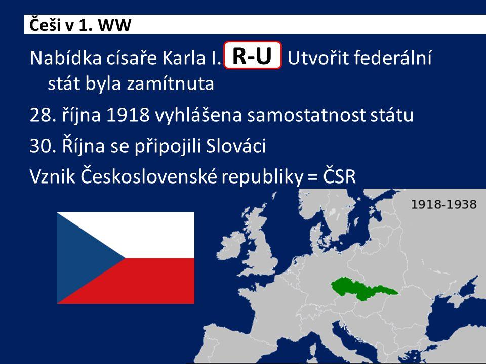 Nabídka císaře Karla I. Utvořit federální stát byla zamítnuta 28.