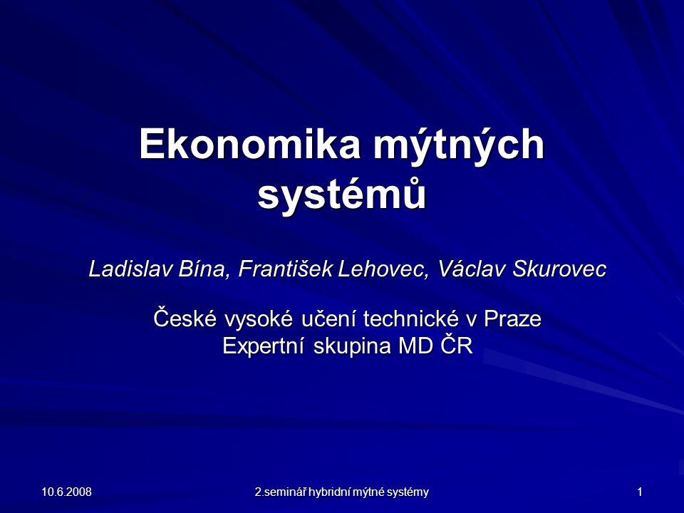 Zhodnocení variant a výběr nejvhodnějšího řešení Zpoplatnění vozidel 3,5 – 12 t je navrženo v ČR řešit takto: Současné sazby mýtného na dálnicích a rychlostních silnicích budou platit pro rozsah vozidel 3,5 – 40 t a tudíž budou zahrnovat i vozidla kategorie 3,5 – 12 t.