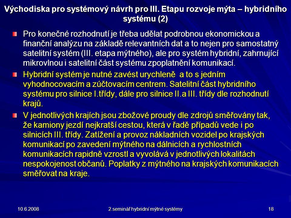 Východiska pro systémový návrh pro III.