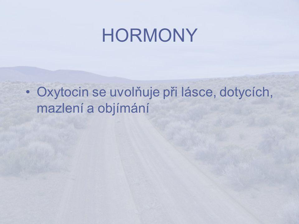 HORMONY Oxytocin se uvolňuje při lásce, dotycích, mazlení a objímání