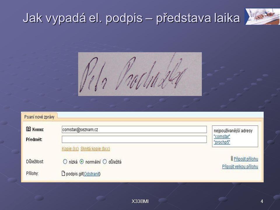 4X33BMI Jak vypadá el. podpis – představa laika