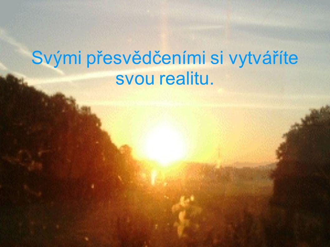 Svými přesvědčeními si vytváříte svou realitu.