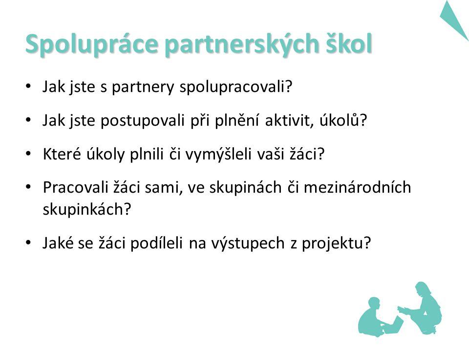 Spolupráce partnerských škol Jak jste s partnery spolupracovali.