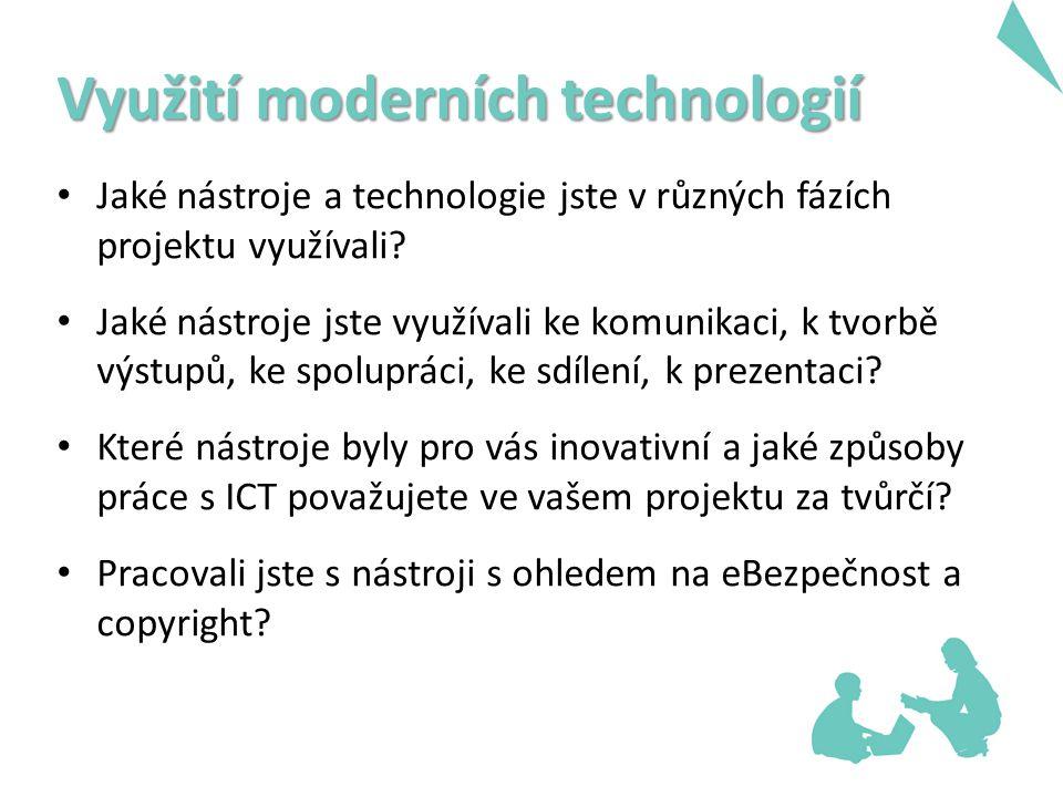 Využití moderních technologií Jaké nástroje a technologie jste v různých fázích projektu využívali.