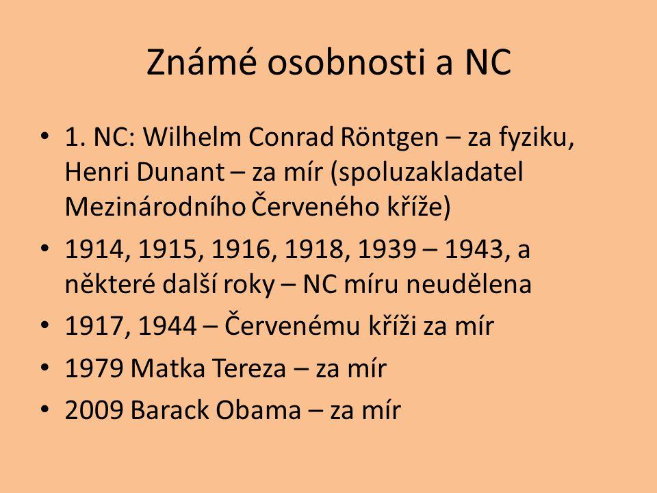 Známé osobnosti a NC 1.