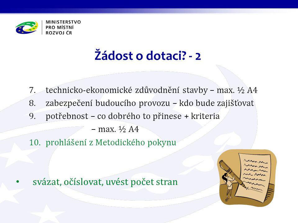 7.technicko-ekonomické zdůvodnění stavby – max.