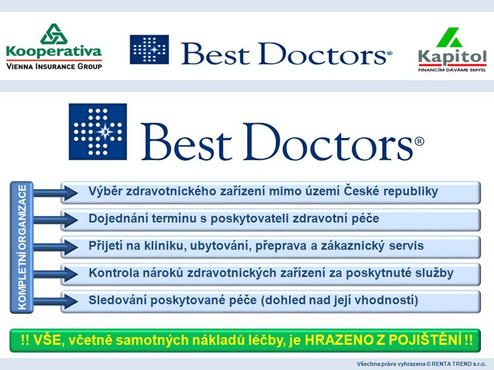 Všechna práva vyhrazena © RENTA TREND s.r.o. Lékařské záznamy Podklady od BestDoctors Lékařský posudek Finální zpráva VEŠKERÁ KOMUNIKACE PROBÍHÁ V ČEŠ