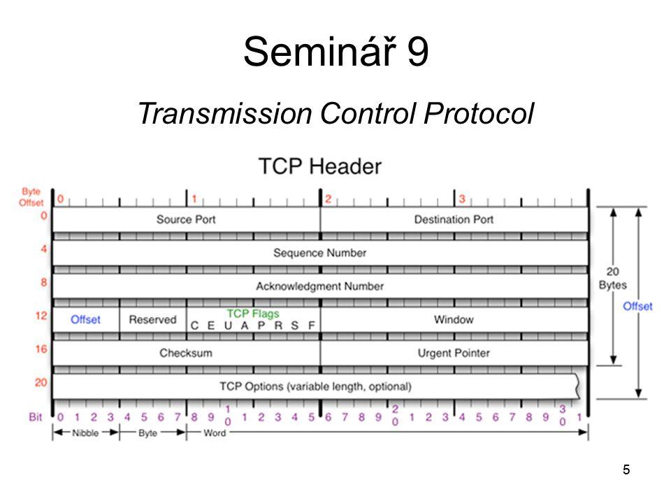 5 Seminář 9 5 Transmission Control Protocol