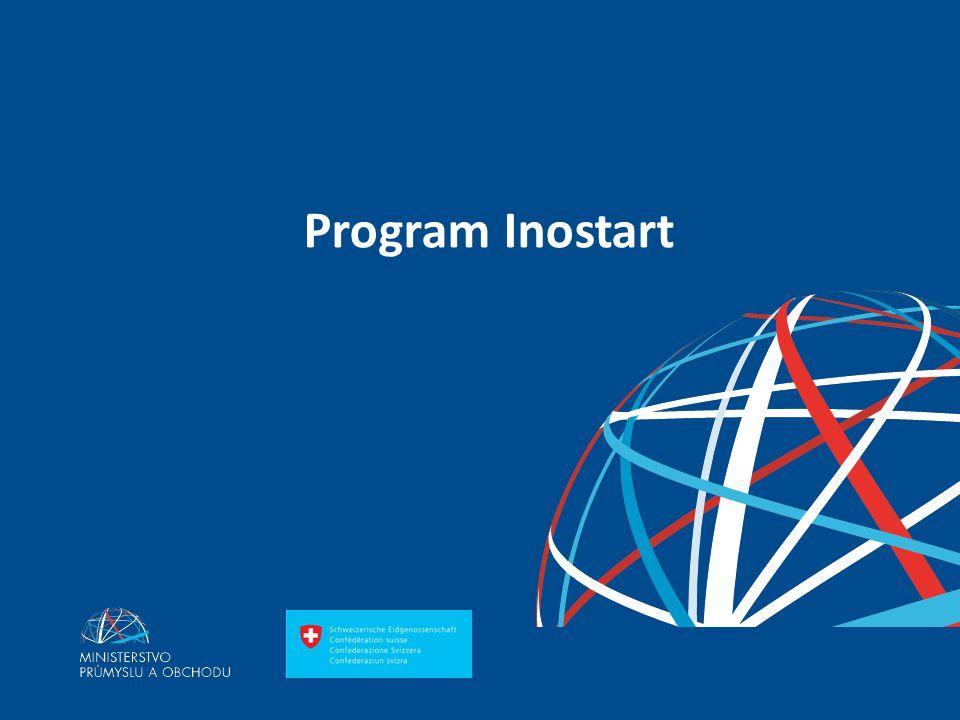 Ing. Martin Kocourek ministr průmyslu a obchodu ZPĚT NA VRCHOL – INSTITUCE, INOVACE A INFRASTRUKTURA Program Inostart