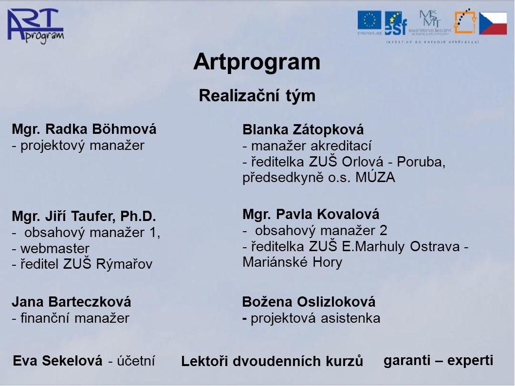 Artprogram Realizační tým Mgr.