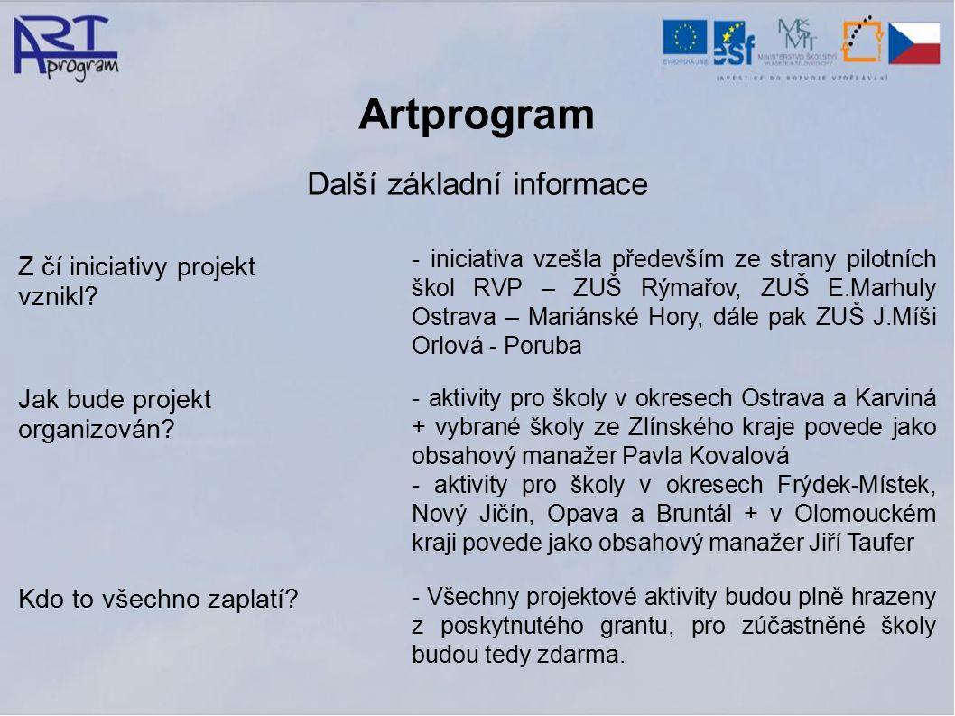 Artprogram Další základní informace Z čí iniciativy projekt vznikl.