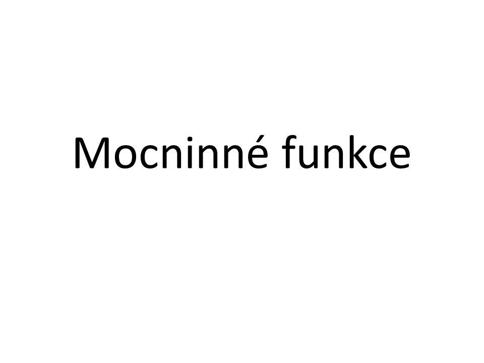 Mocninné funkce
