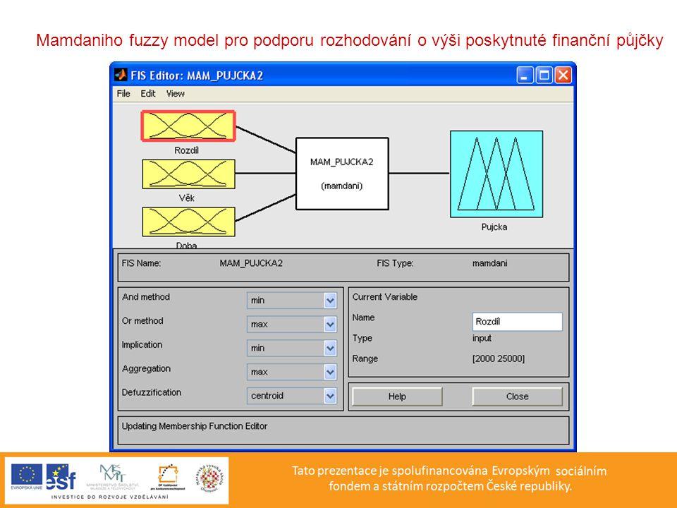 Mamdaniho fuzzy model pro podporu rozhodování o výši poskytnuté finanční půjčky