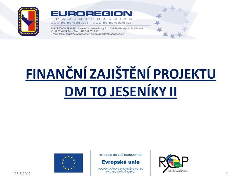 FINANČNÍ ZAJIŠTĚNÍ PROJEKTU DM TO JESENÍKY II 28.3.20121