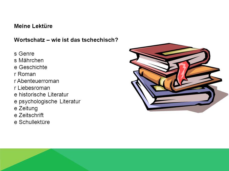Meine Lektüre Wortschatz – wie ist das deutsch.