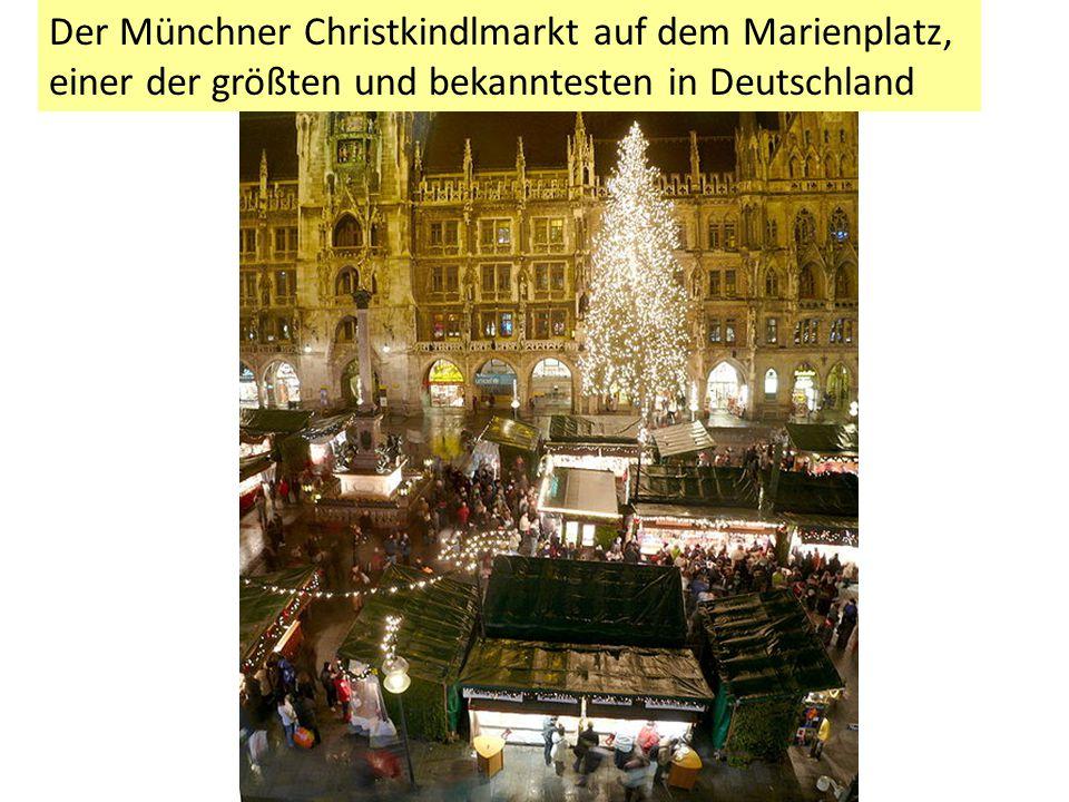 Der Münchner Christkindlmarkt auf dem Marienplatz, einer der größten und bekanntesten in Deutschland