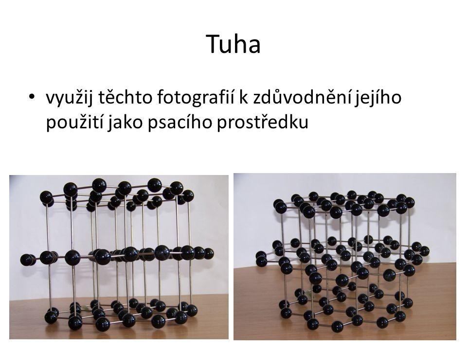Tuha využij těchto fotografií k zdůvodnění jejího použití jako psacího prostředku