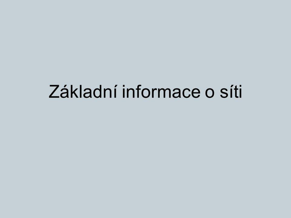Základní informace o síti