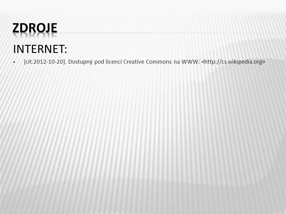 INTERNET:  [cit.2012-10-20]. Dostupný pod licencí Creative Commons na WWW: