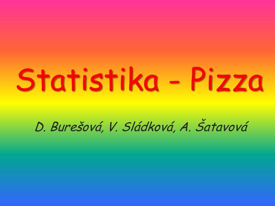 Statistika - Pizza D. Burešová, V. Sládková, A. Šatavová