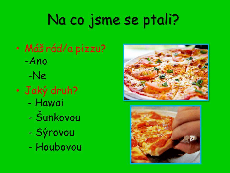 Sýrová pizza Má ji rádo 12 žáků ze 73, což je 16,5%.