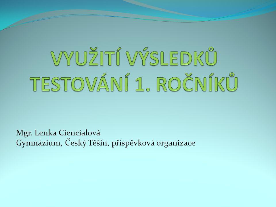Mgr. Lenka Ciencialová Gymnázium, Český Těšín, příspěvková organizace