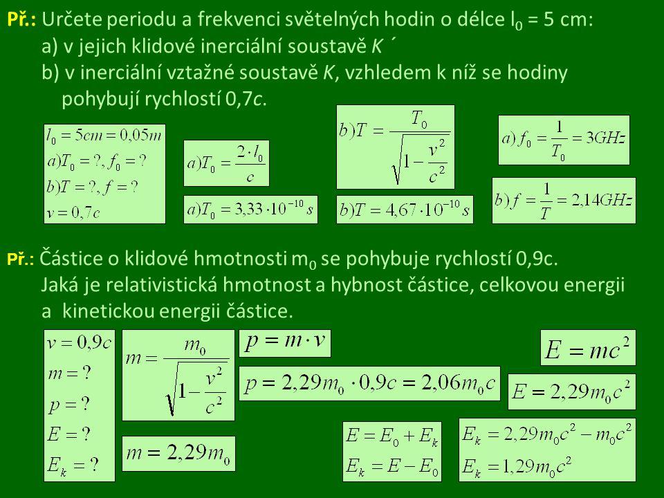 Použitá literatura Literatura: BARTUŠKA, K.: Fyzika pro gymnázia – Speciální teorie relativity.