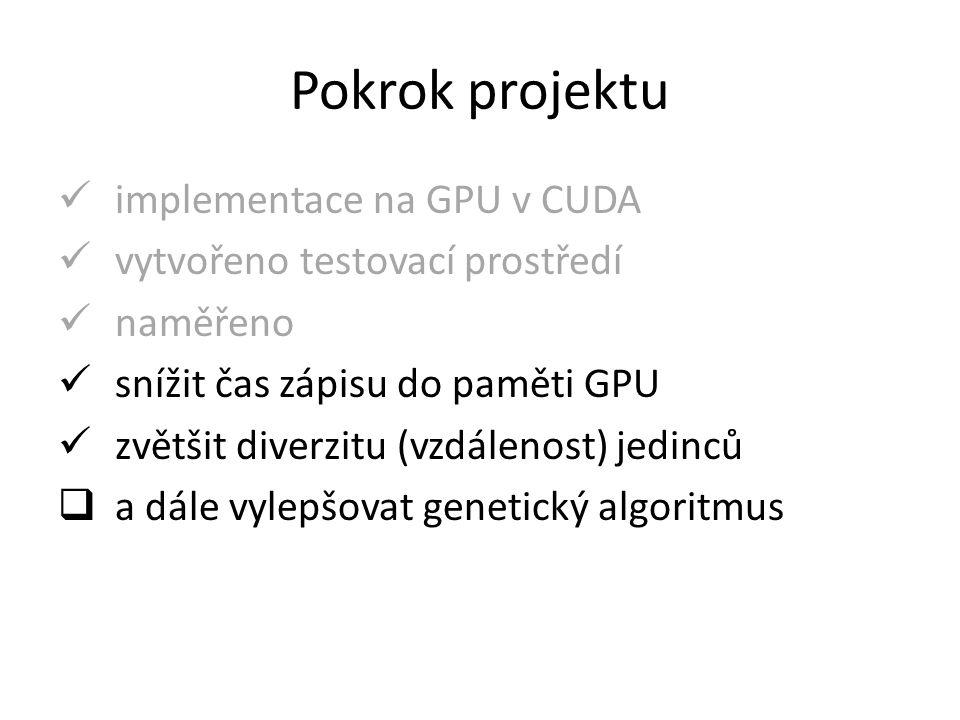 Závěr celkově je výpočet pouze na GPU rychlejší než kombinace s CPU, ale minimalistická implementace OpenCL zpomaluje mohli bychom získat další zrychlení – speciálně navrženým kernelem pro ROM na GPU – použitím HW random (šum z okolí, …) – … ?
