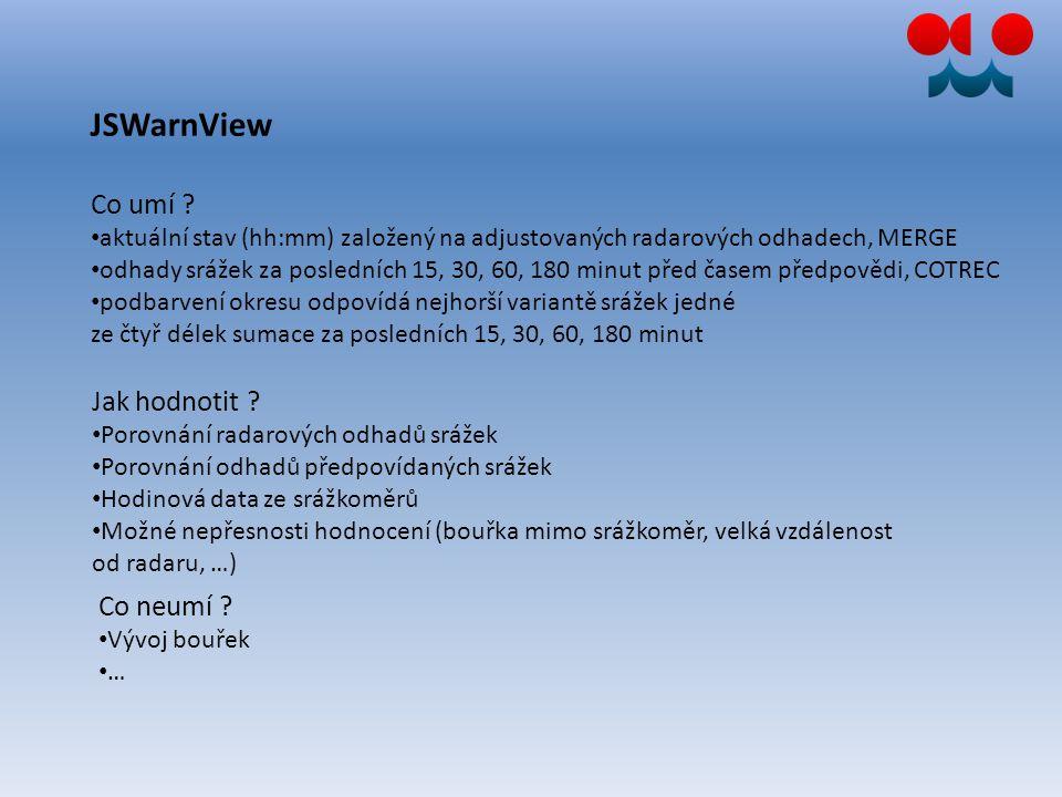 20.6.2012 12.00 – 16.00 SELČ JSWarnView