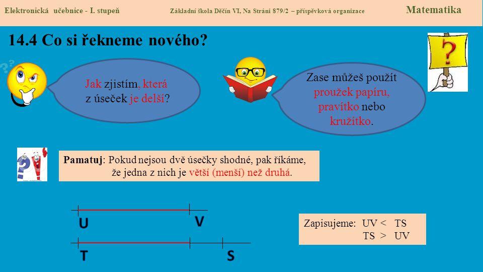 14.5 Procvičení a příklady Elektronická učebnice - I.
