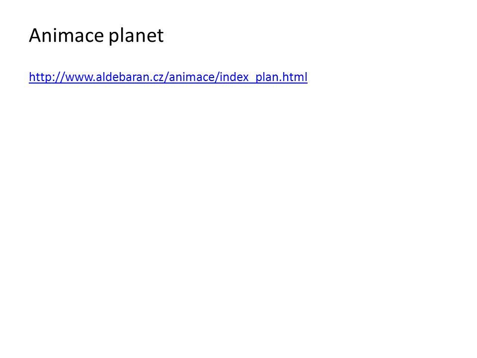 Animace planet http://www.aldebaran.cz/animace/index_plan.html