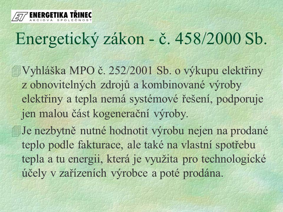 4Vyhláška MPO č. 252/2001 Sb. o výkupu elektřiny z obnovitelných zdrojů a kombinované výroby elektřiny a tepla nemá systémové řešení, podporuje jen ma