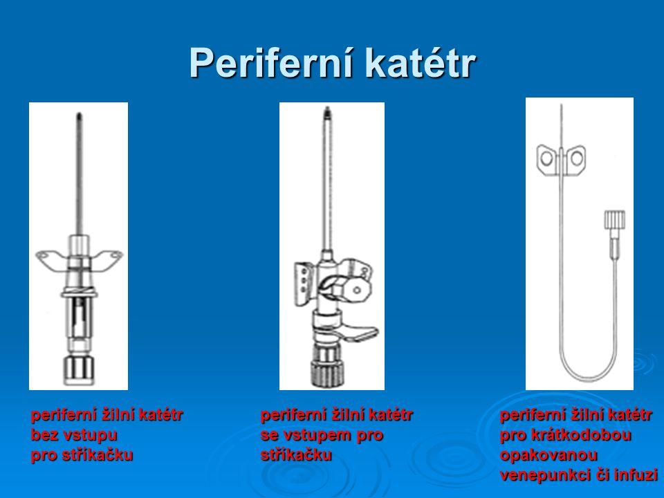 Periferní katétr periferní žilní katétr bez vstupu pro stříkačku periferní žilní katétr se vstupem pro stříkačku periferní žilní katétr pro krátkodobo