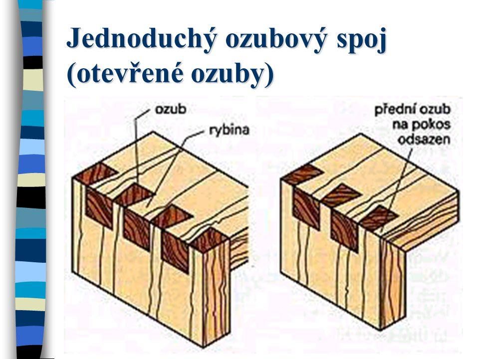 Spojování ozuby Spojování ozuby je vícenásobné spojení zazubení klínovitých nebo rovných čepů, které se nazývají ozuby, popř.
